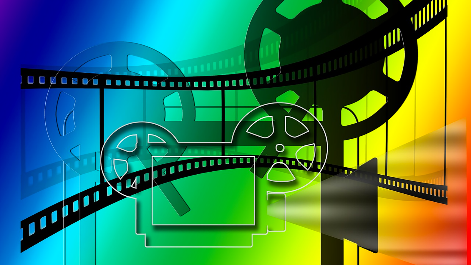 colourful picture: film reel and video camera | Video Marketing Kent